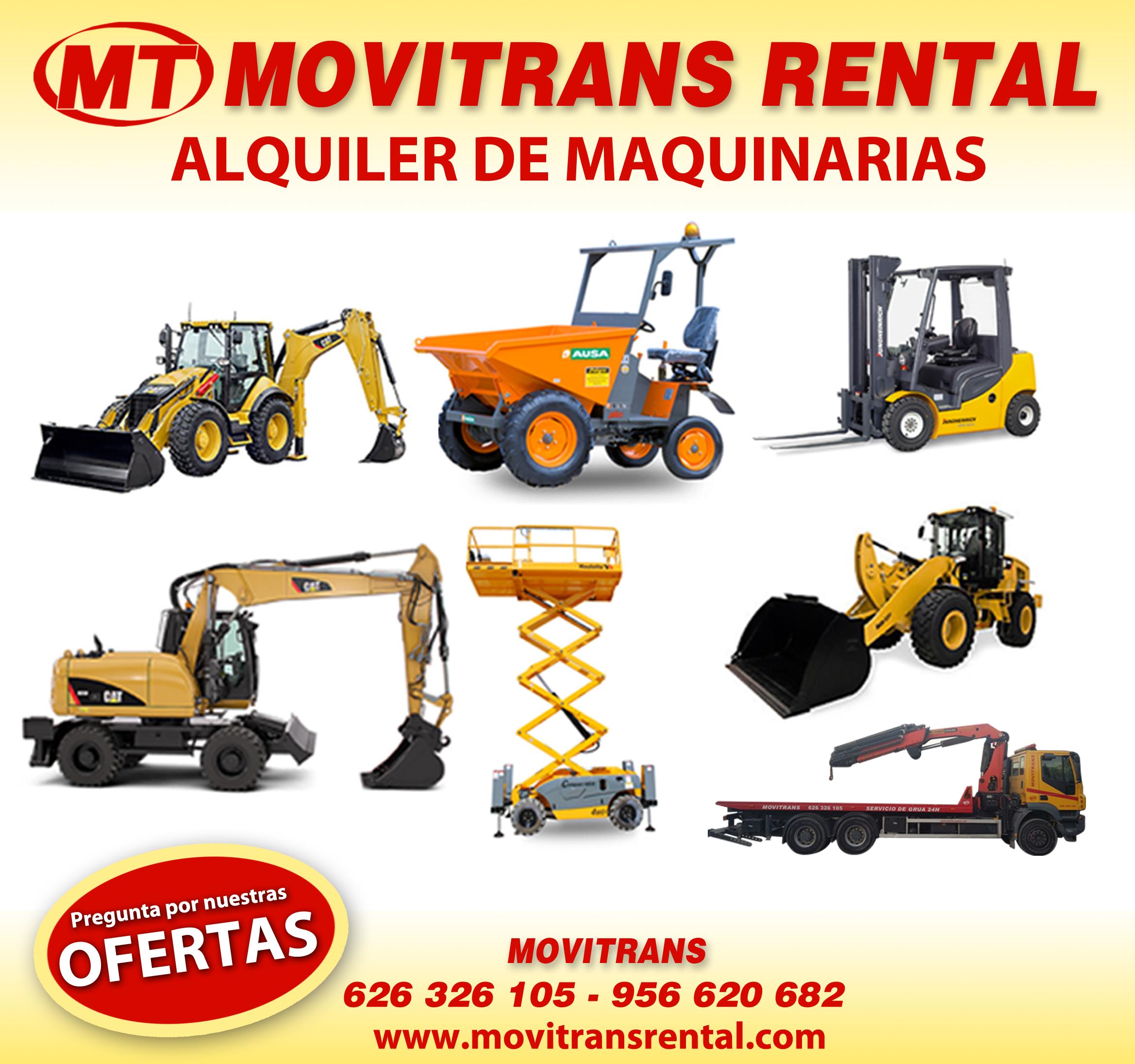Movitrans Rental Alquiler Maquinaria Cádiz